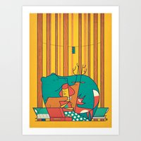 music Art Prints featuring MUSIC by Ale Giorgini