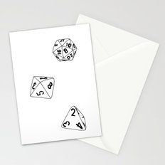 Dungeons and Dragons Dice Stationery Cards
