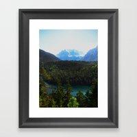 River En Route To Hopfga… Framed Art Print