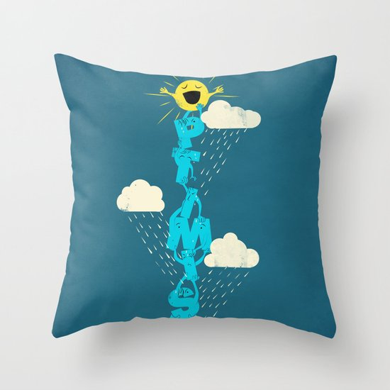 Yay for Optimism! Throw Pillow