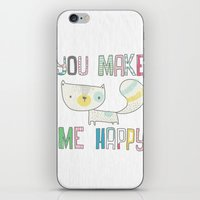 make me happy iPhone & iPod Skin