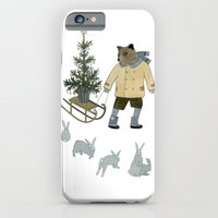 Bear, Christmas Tree and Bunnies iPhone 6 Slim Case