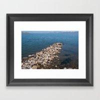 Salt Lake Scenery III Framed Art Print