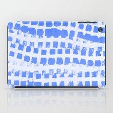 Abstract azure navy pattern iPad Case