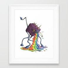 Barf the Rainbow Framed Art Print