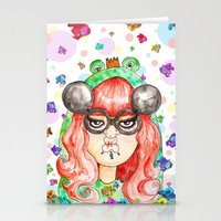 Miss Frog Stationery Cards