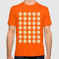 PolkaMoons Mens Fitted Tee Orange SMALL