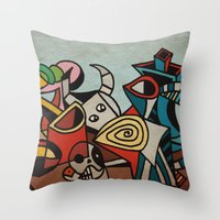 Still Life in Cubism Throw Pillow
