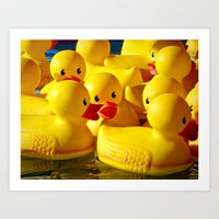 When they toss the ring, duck! Art Print