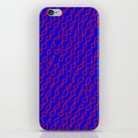 Blue/Red iPhone & iPod Skin