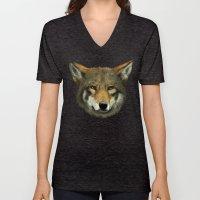 Wolf Face Unisex V-Neck