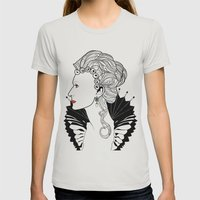 Elizabeth I. Womens Fitted Tee Silver SMALL