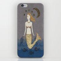 Mermaid At Dusk iPhone & iPod Skin