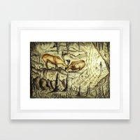 Rock Shelter Reindeer  Framed Art Print