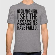 Good Morning, I See The … Mens Fitted Tee Athletic Grey SMALL
