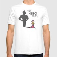 The Hero Inside Mens Fitted Tee White SMALL
