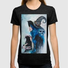Blue Valentine Womens Fitted Tee Tri-Black SMALL