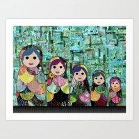 Matryoshka Nesting Dolls Art Print