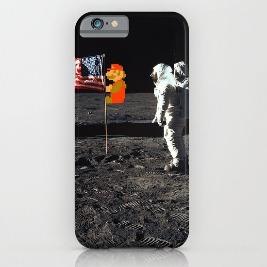 Super Mario on the Moon iPhone & iPod Case