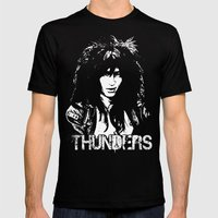 Johnny Thunders Mens Fitted Tee Black SMALL