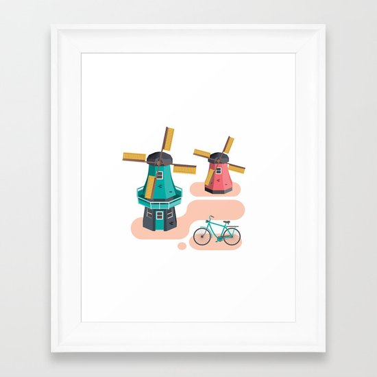Holland Icon Framed Art Print