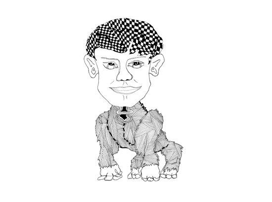 Monkey Boy Art Print