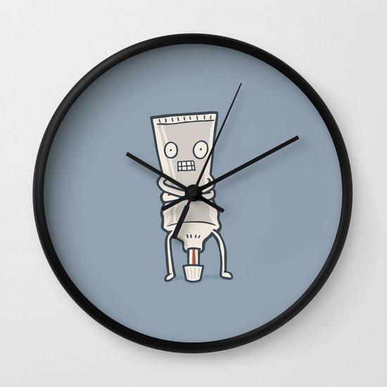 Bad Taste Toothpaste  Wall Clock