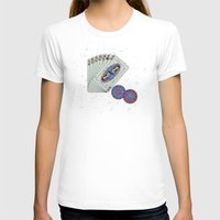 Hey boy, what's your game Womens Fitted Tee White SMALL