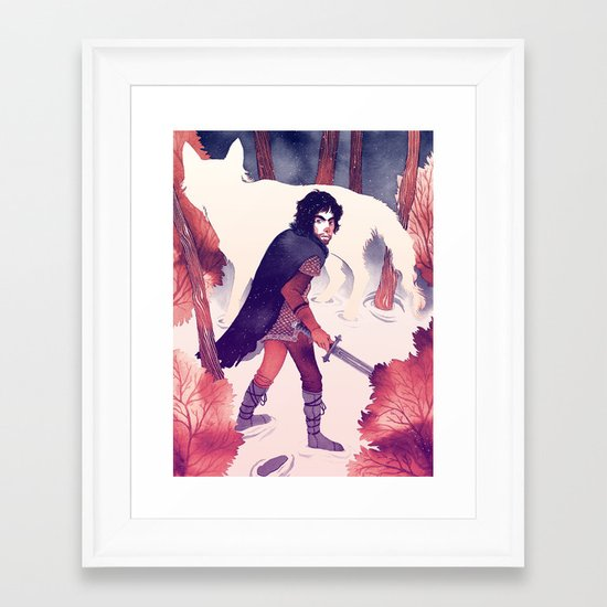 North of the Wall Framed Art Print