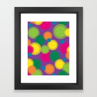 Spikey Circles Purple Framed Art Print