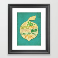 Lemon Meringue Pie Framed Art Print