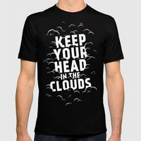 Keep Your Head in the Clouds Mens Fitted Tee Black SMALL