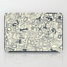 A1B2C3 indigo ivory iPad Case