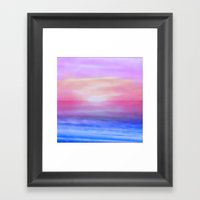 Purple sky Framed Art Print