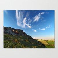 At Almscliff Crag Canvas Print