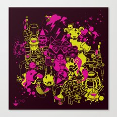 Dream Factory Pink and Yellow Canvas Print