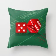 Craps Table & Red Las V… Throw Pillow