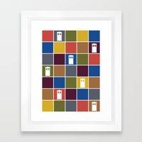 TARDIS Tiles Framed Art Print