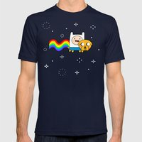 Nyan Time: Adventure Tim… Mens Fitted Tee Navy SMALL