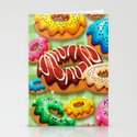 Donuts Party Time Stationery Cards