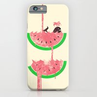 iPhone Cases featuring watermelon falls by Jonah Block