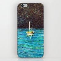 Sailboat Under The Stars iPhone & iPod Skin