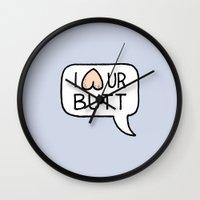 I LUV UR BUTT Wall Clock