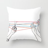 String Games Throw Pillow