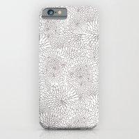 Flowers in lines iPhone 6 Slim Case