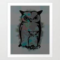 Little Big Owl Art Print