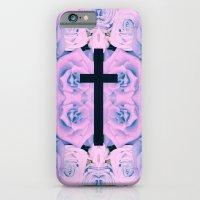 Pastel Rose Cross iPhone 6 Slim Case