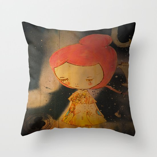 Beautiful small things I found in Barcelona streets Throw Pillow