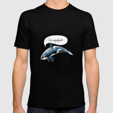 orcinus orca Black SMALL Mens Fitted Tee