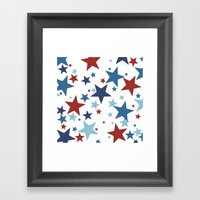 Stars - Red, White And B… Framed Art Print